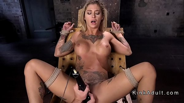 Vibe, Tied up, Tie, Blonde pussy