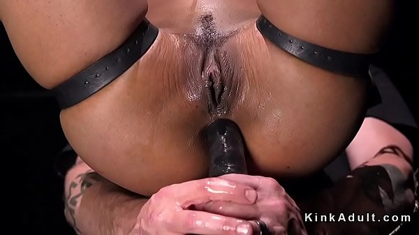 Ebony anal, Anal toy, Chained