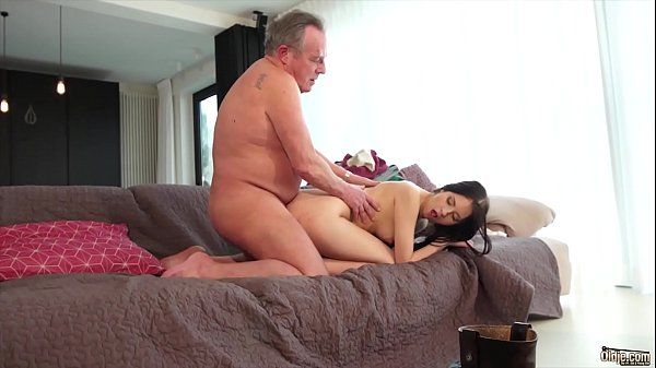 Old man, Old and young, Cum in pussy, Swallowing