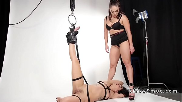 Caning, Caned, Anal plug, Chained